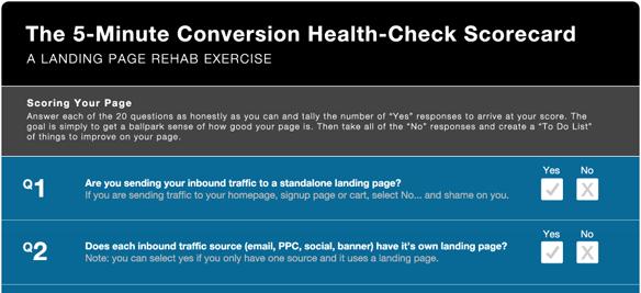 Conversion scorecard