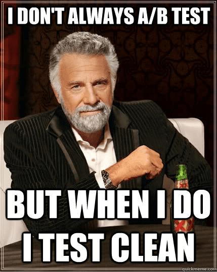 A/B Testing Clean
