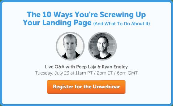 10 Landing Page Mistakes Unwebinar Blog CTA