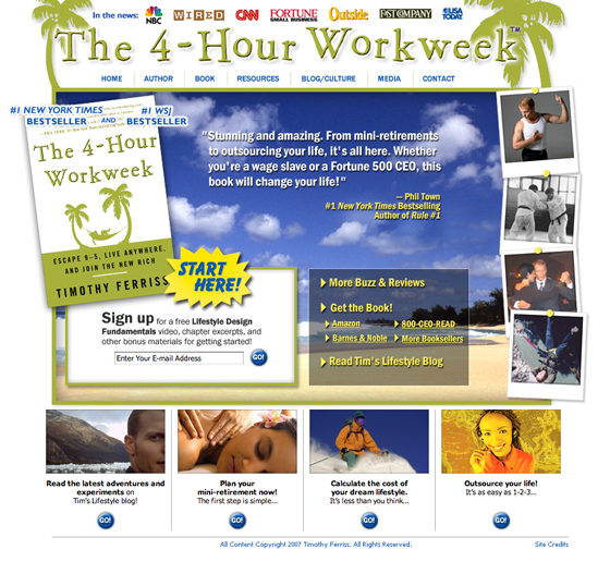 4 Hour Work Week Landing Page 560