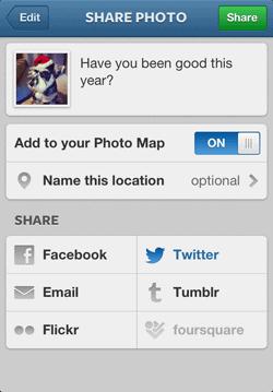 Sharing Instagram Photos