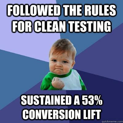 A/B Testing Success Baby