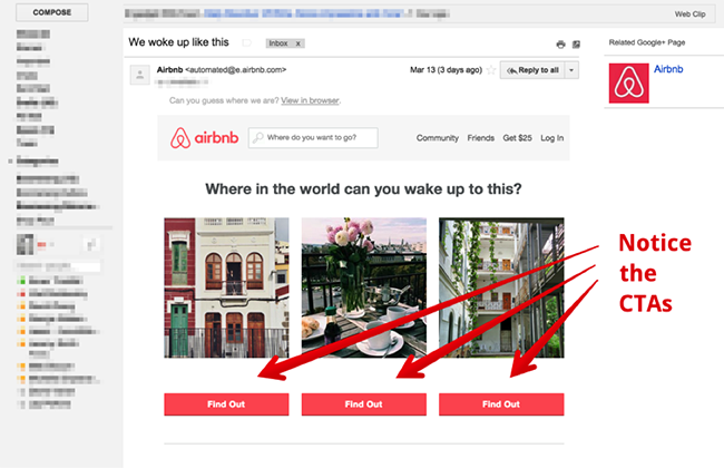 9. an example of developing a landing page that corresponds to the email