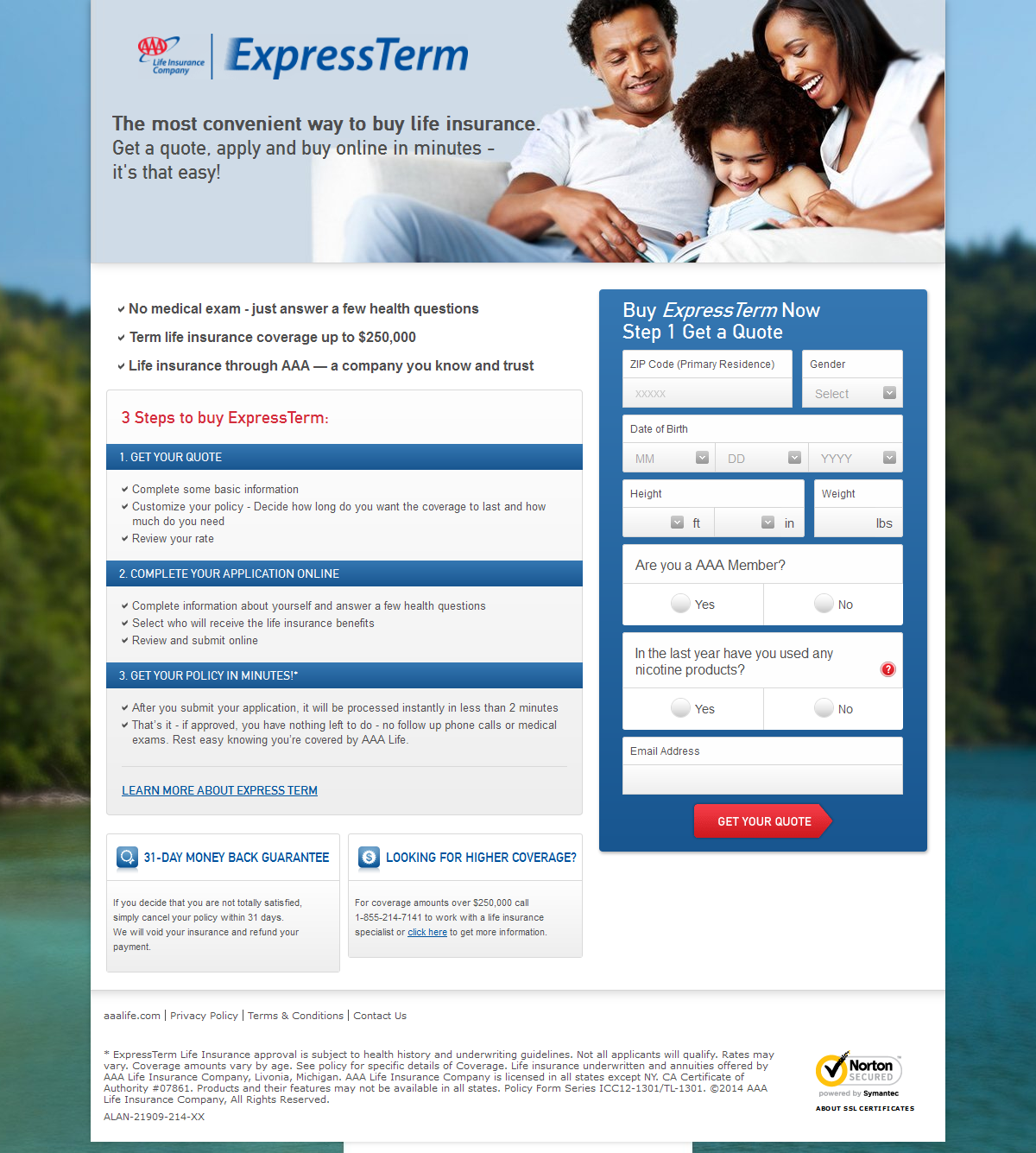 Get A Life Insurance Quote Online Fluff Is Thy Foe 6 Insurance Landing Page Examples & Critiques