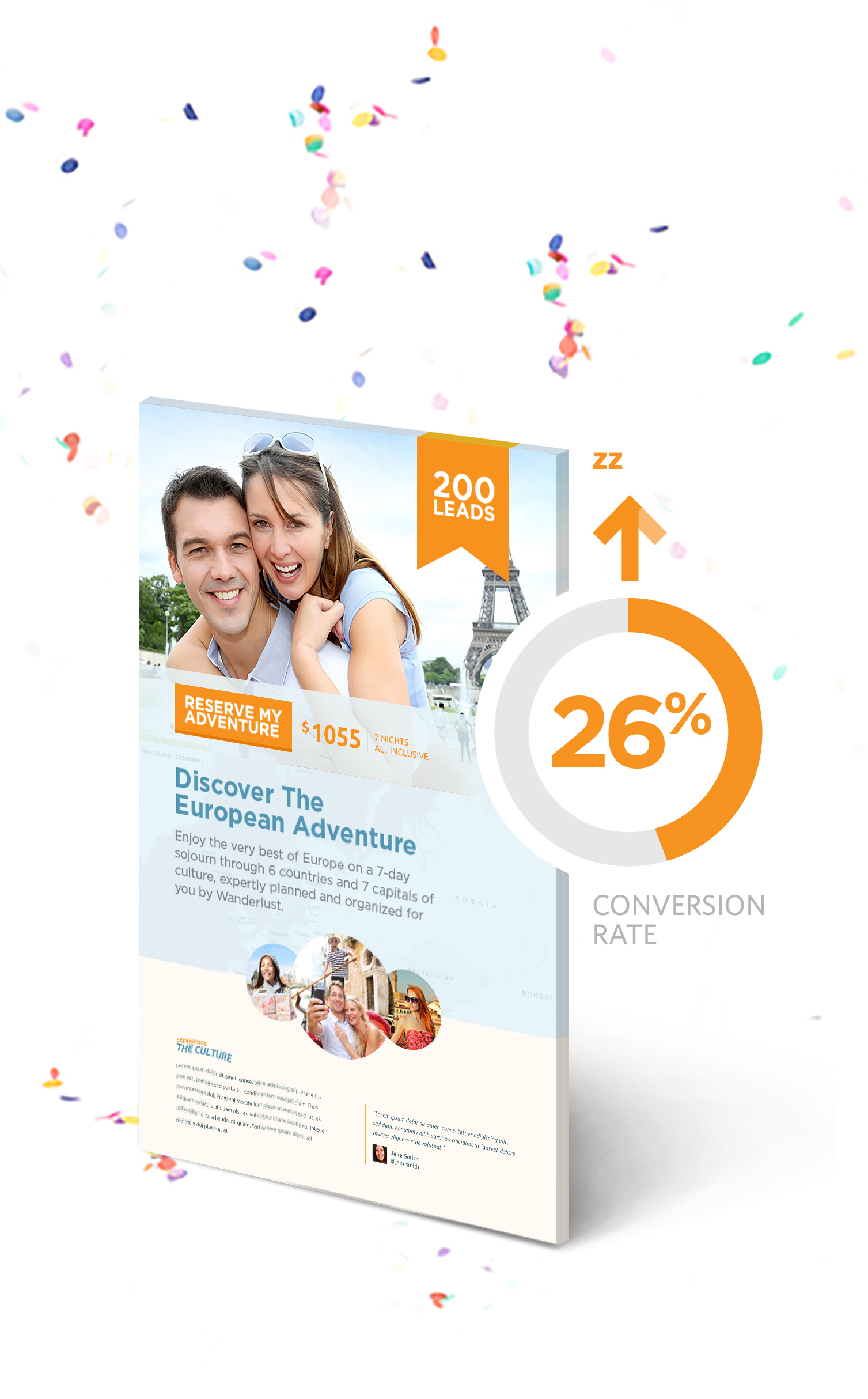 conversion rate going up