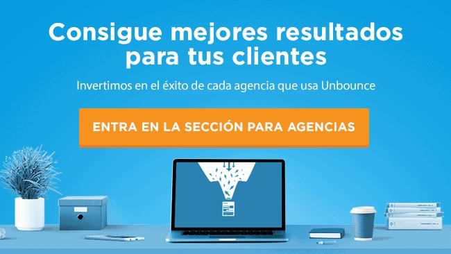usar unbounce para agencias clientes cobrar landing pages