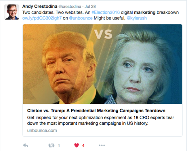Andy Crestodina tweet