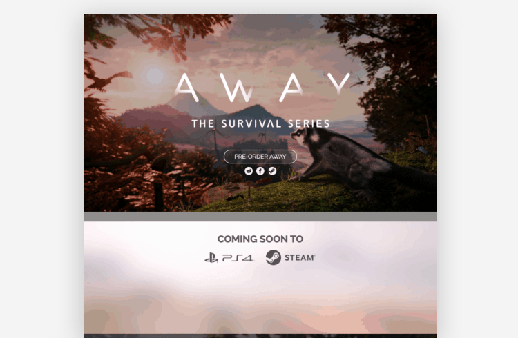 Ecommerce Landing Page: Away