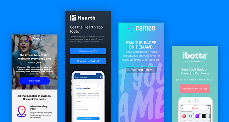 App landing pages