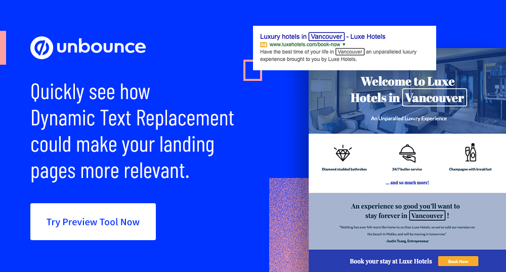 Quickly see how Dynamic Text Replacement could make your landing pages more relevant. Try Preview Tool Now.