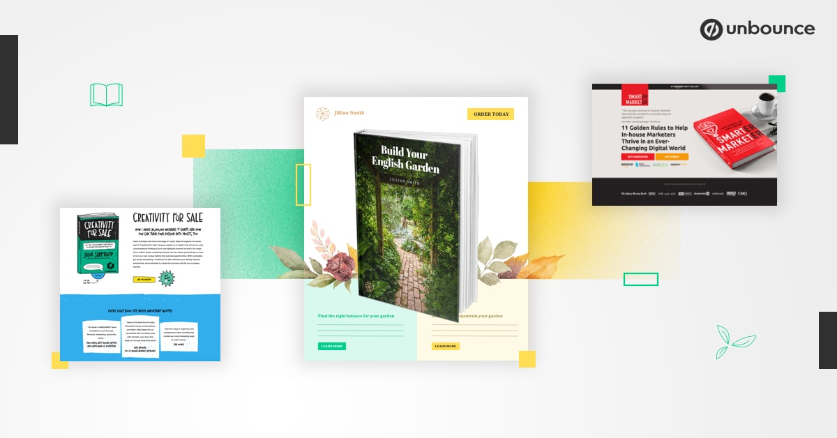 High Converting Book Landing Page