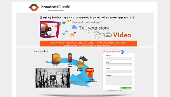 Broadcast2World form optimization