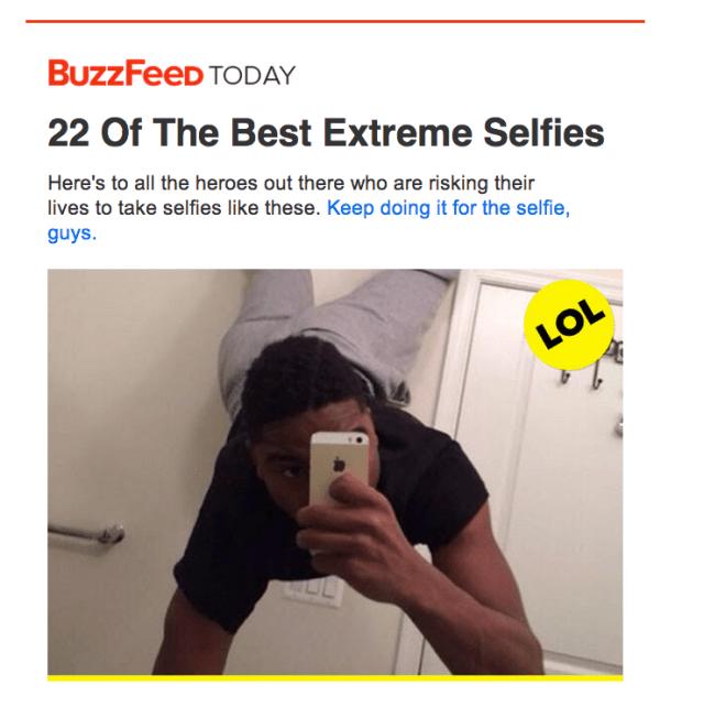 BuzzFeed Selfie Email