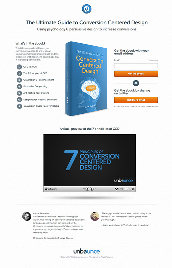 conversion centered design ebook