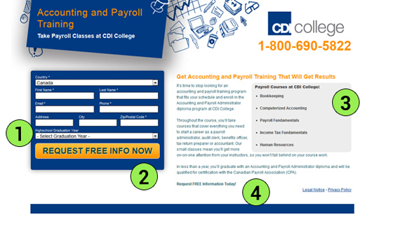 CDI College Landing Page