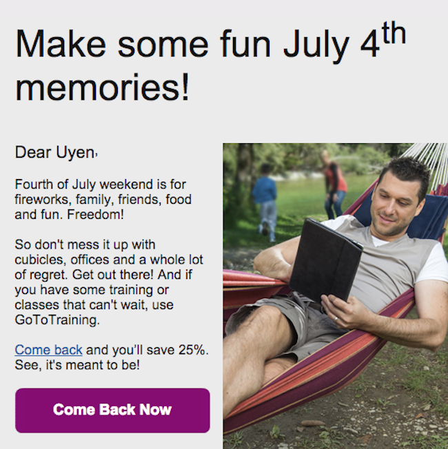 Citrix Email - Discount to re-engage