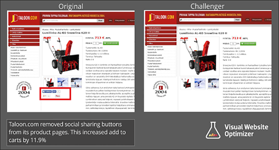 Comparison Image Social Buttons