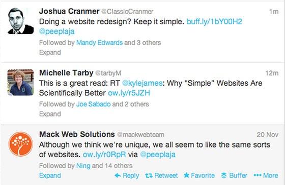 Content Marketing Goals - Twitter Screenshot
