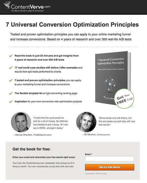 Content Verve Ebook Landing Page 560