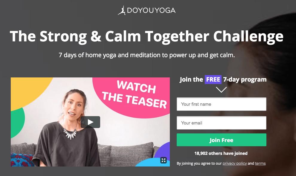 Do You Yoga Landing Page