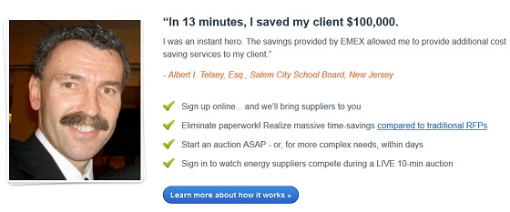 Testing testimonials on short copy - EMEX