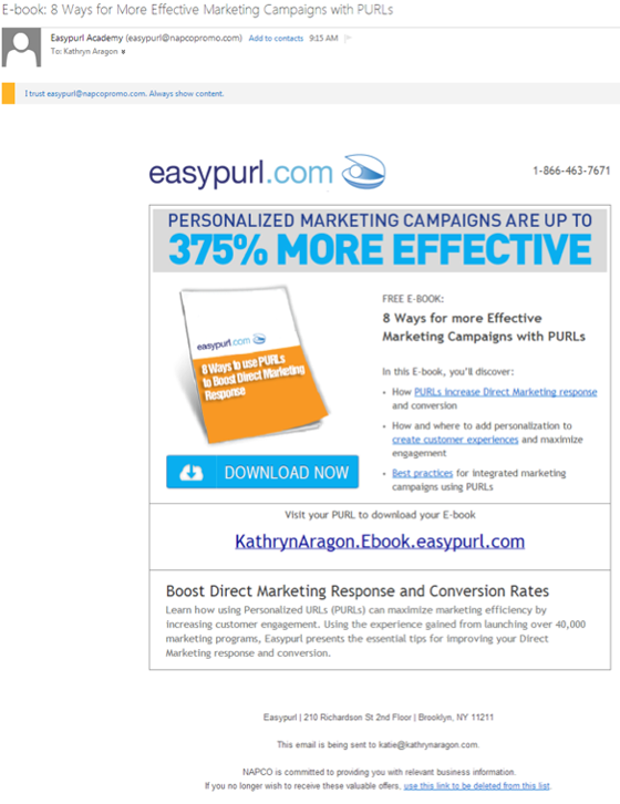 Easypurl Email Campaign