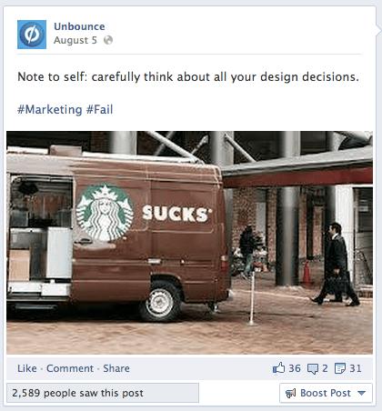 Facebook Engagement Tactics - Marketing Fail
