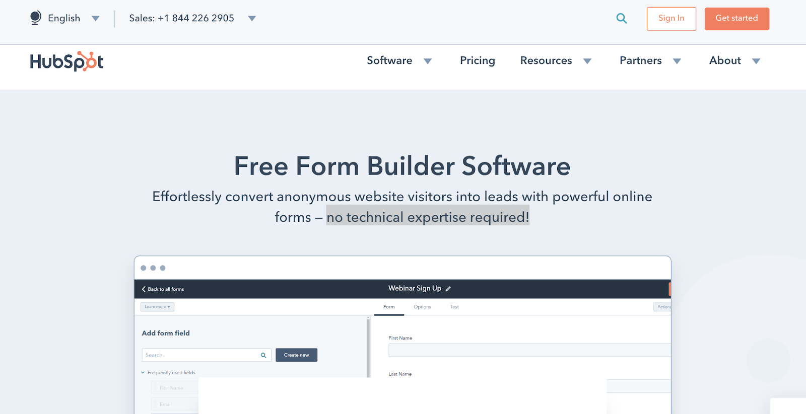 Hubspot Form Builder