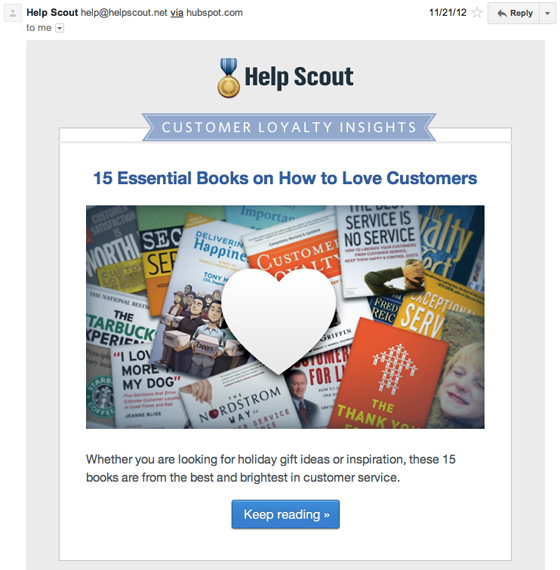 Helpscout drip email conversion funnel