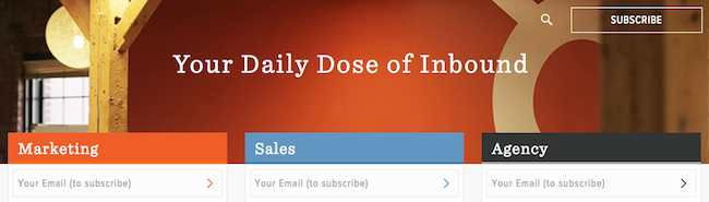 HubSpot Blog - Subscribe by Topics