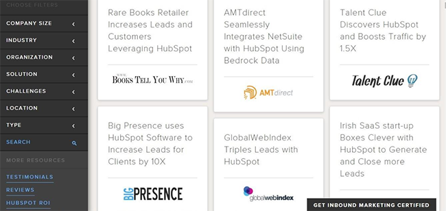 Hubspot case study section