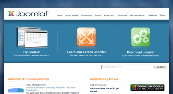 Joomla Old Homepage