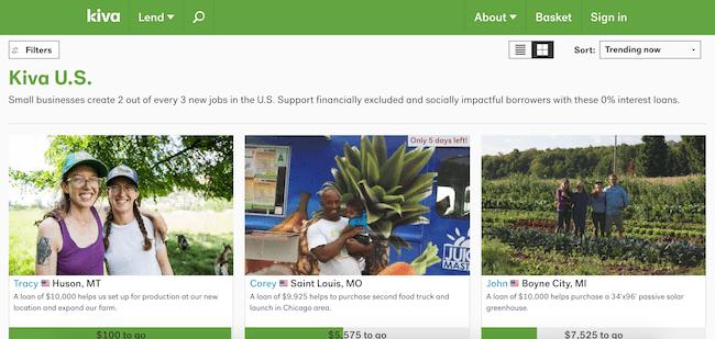 Kiva Community Page