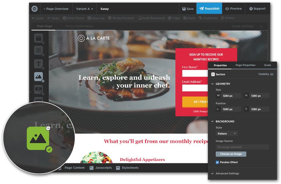 Landing Page unbounce