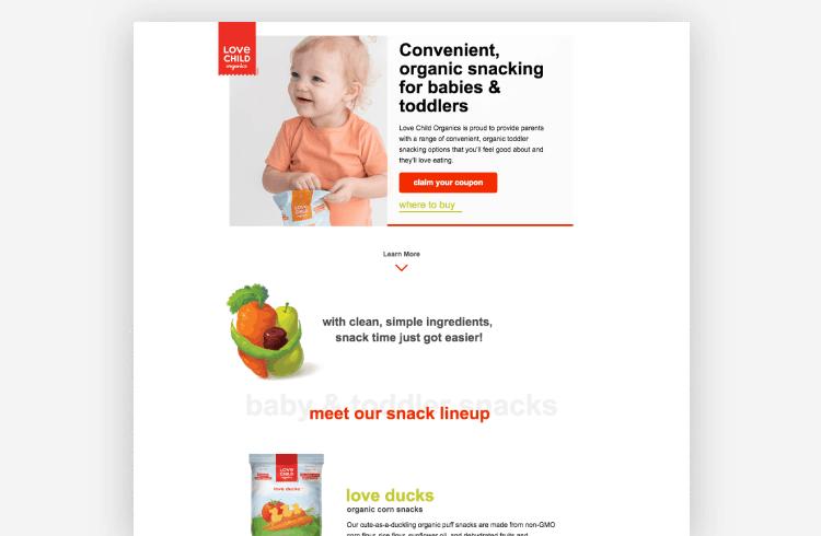 Facebook Lookalike Audiences - Love Child Organics