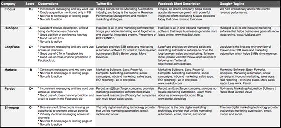 Marketing Automation Social Bios Competitors
