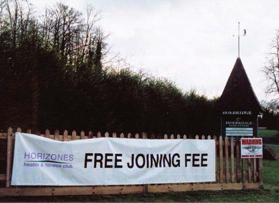 Marketing Fail Free Joining Fee