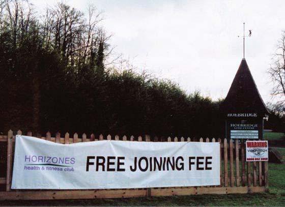 Marketing Fail Free Joining Fee