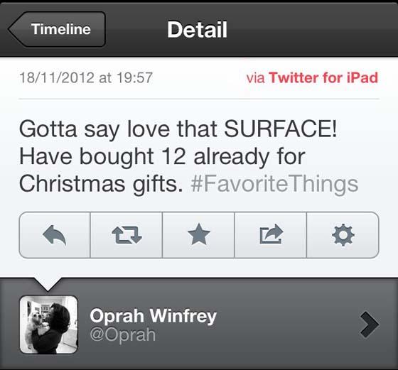 Marketing Fail Twitter for iPad
