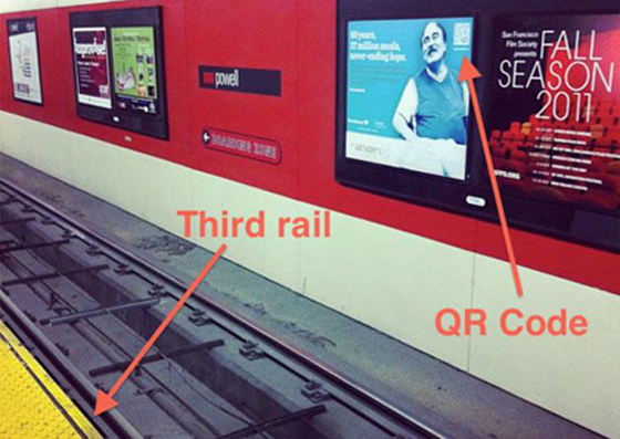 Marketing Fail third rail QR Code