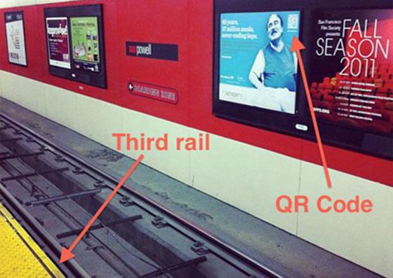 Marketing Fail third rail QR Code