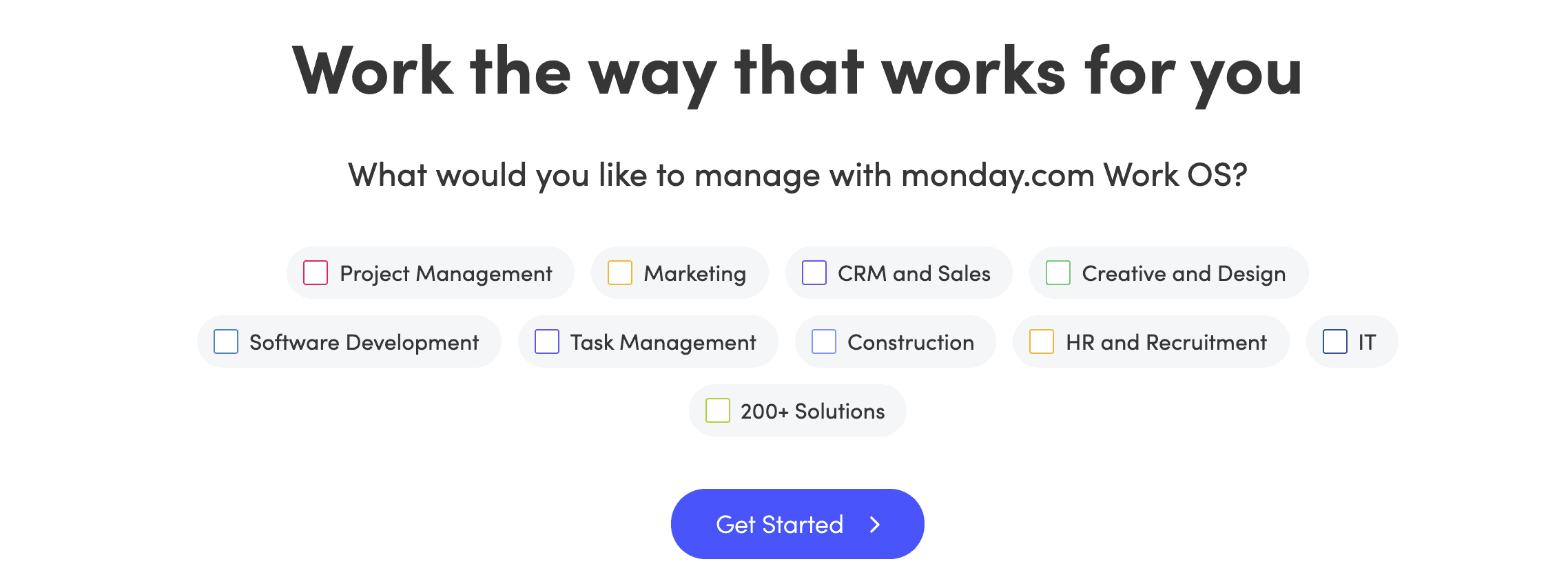 Landing Page Ideas - Monday.com