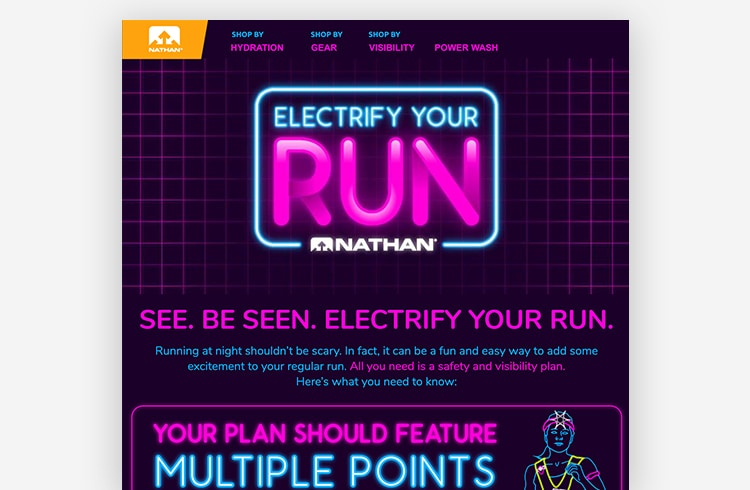 Ecommerce Landing Page: Nathan Sports