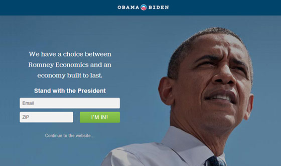 Obama Landing Page A