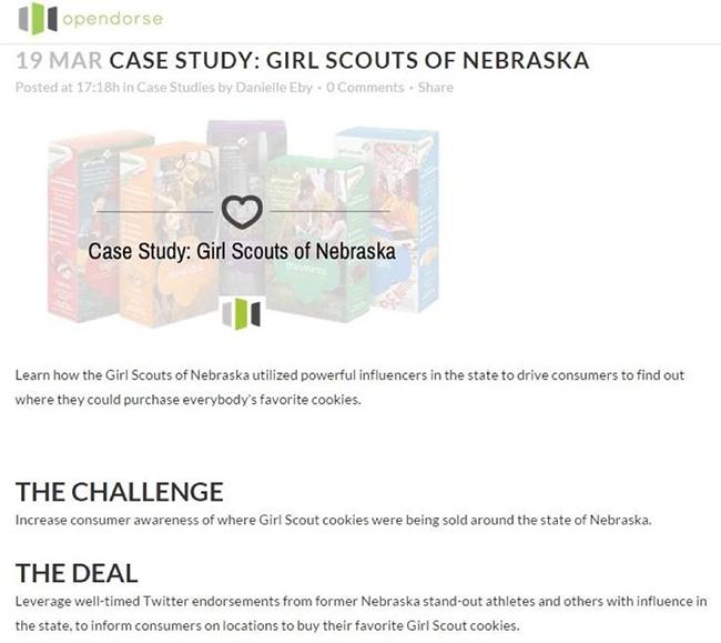 Opendorse Girl Scouts