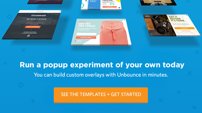 Try an Ecommerce popup from Unbounce today