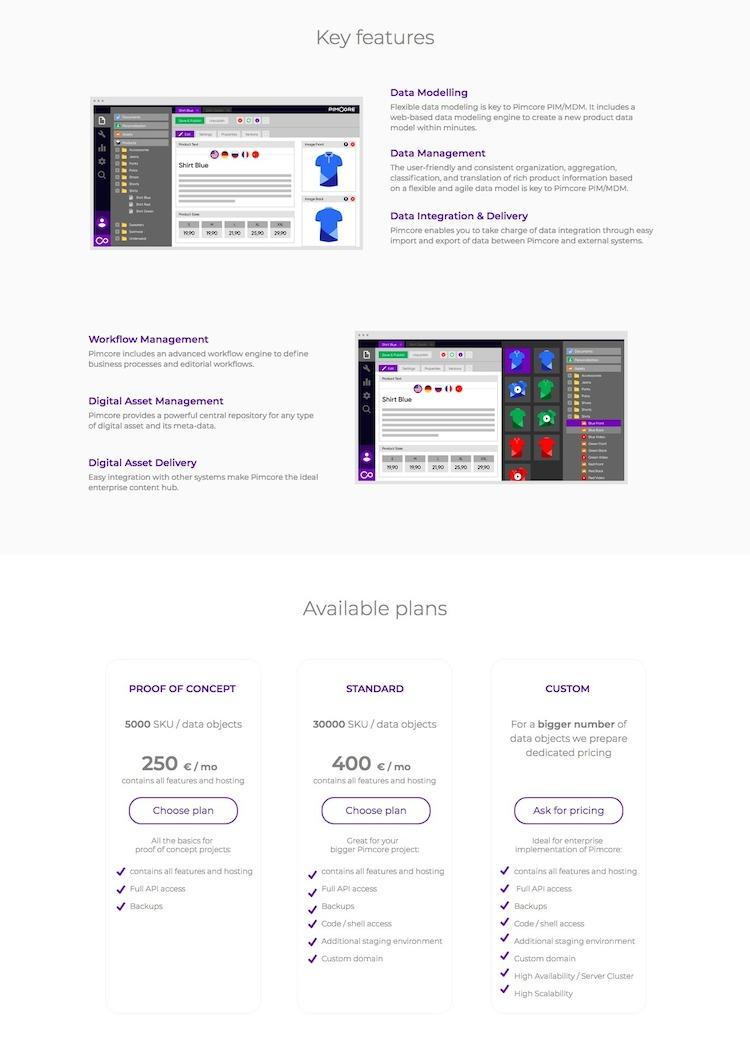 PIM on Cloud Landing Page Features