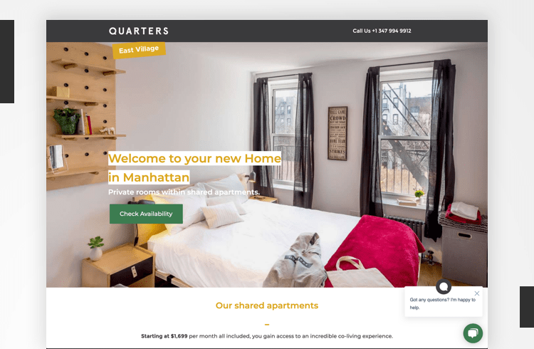 Facebook Landing Page Examples - Quarters