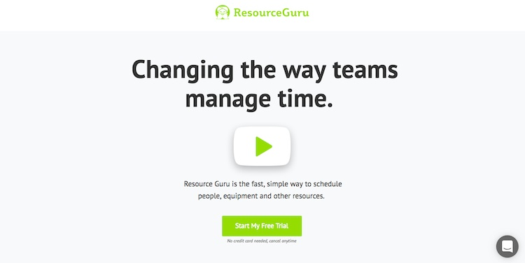 Resource Guru Landing Page