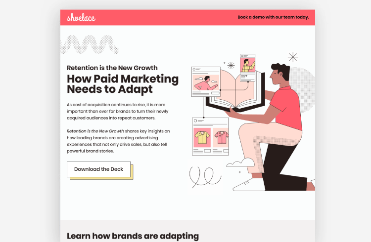 SaaS Landing Page Example: Shoelace